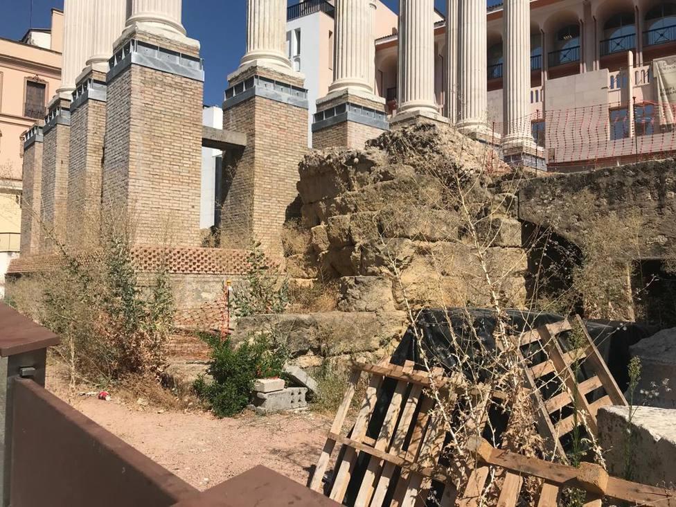 Estado actual del Templo Romano
