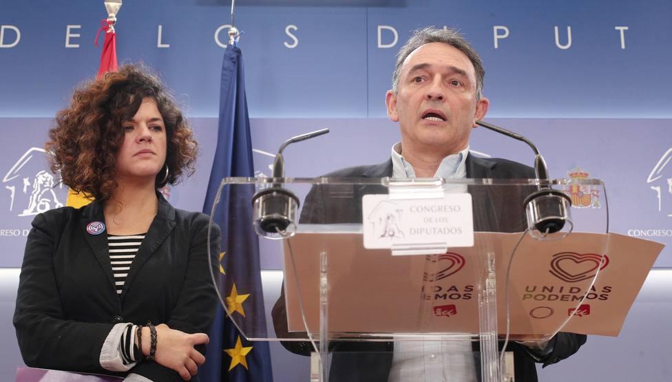 Unidas Podemos nombra a Sofía Castañón y Enrique Santiago portavoces adjuntos en sustitución de Belarra y Garzón