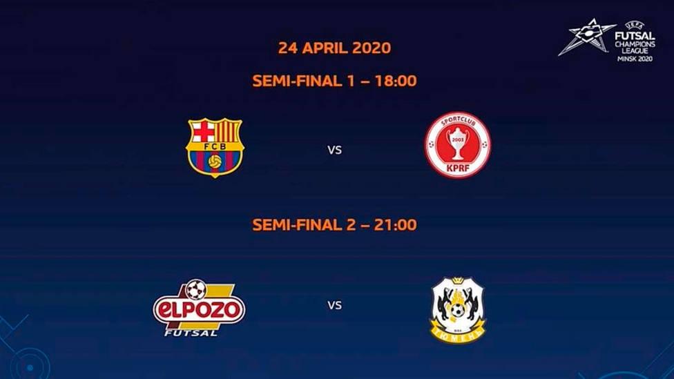 Así queda la Final Four de la Champions League 2020 de fútbol sala