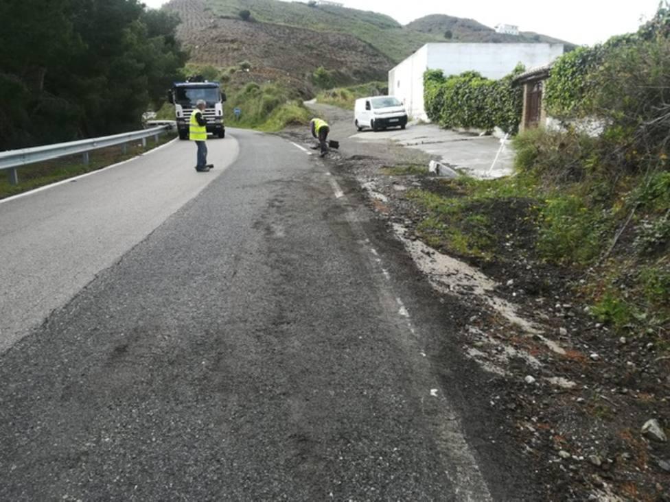 La Diputación continúa arreglando carreteras afectadas por las precipitaciones