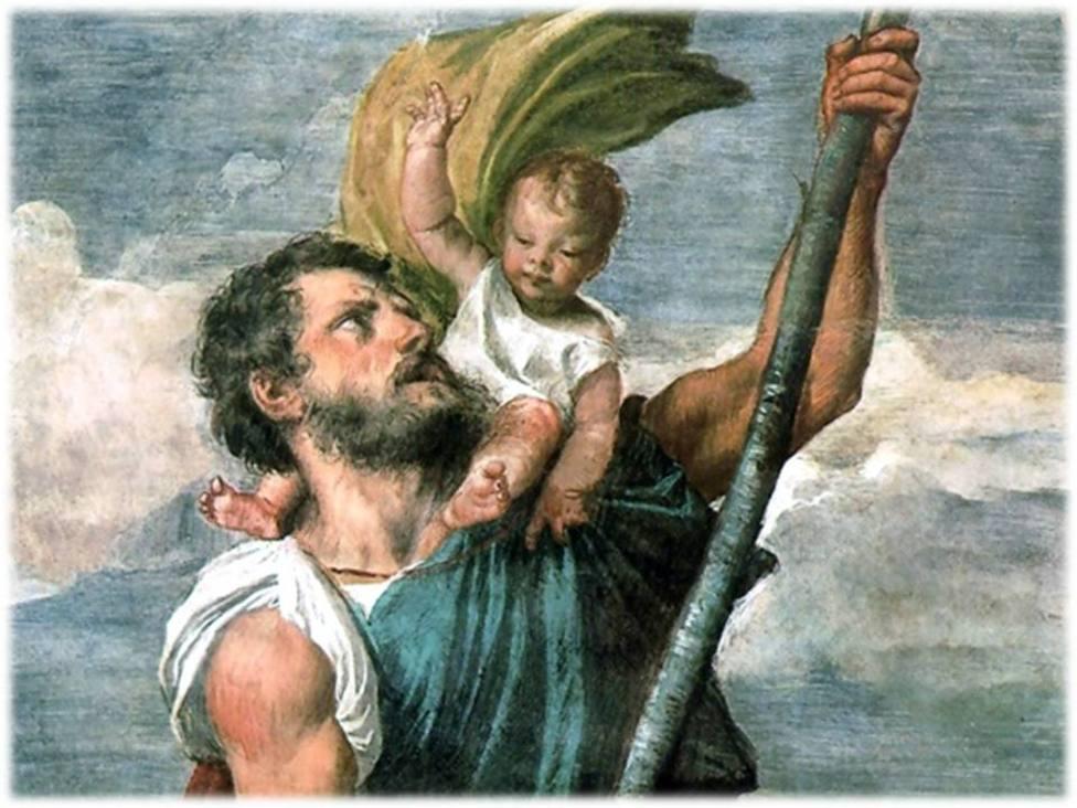 El santoral del 10 de julio: San Cristóbal, portador de Dios y protector de caminantes