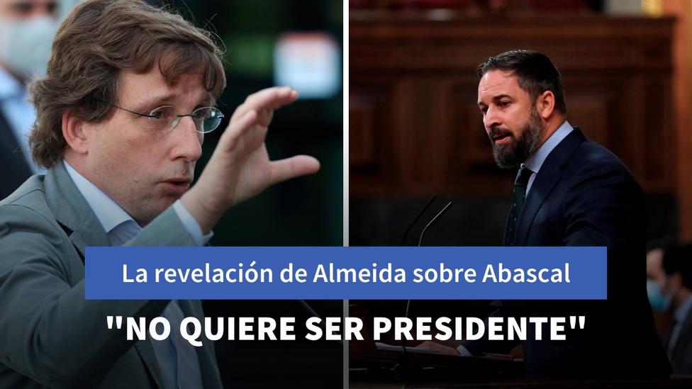 Ls sorprendente revelación de Martínez-Almeida sobre Abascal: Él no quiere ser presidente