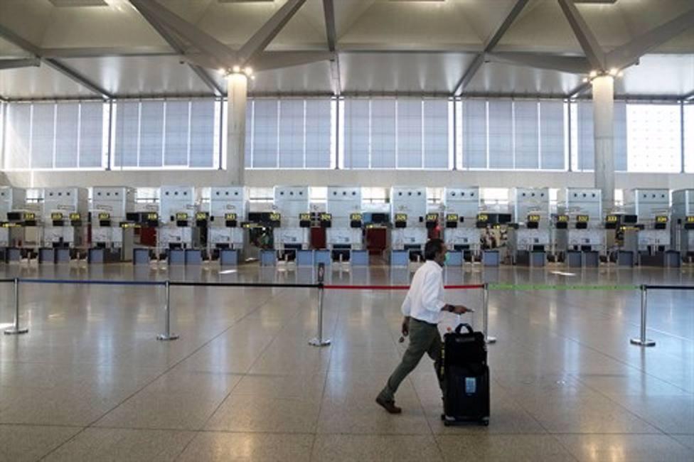 Imagen actual de un vacío Aeropuerto de Málaga.
