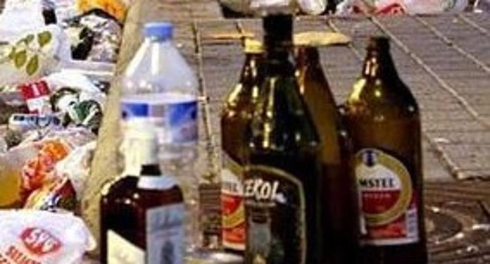 Denunciados nueve jóvenes, seis de ellos menores, por dos botellones en Lugo