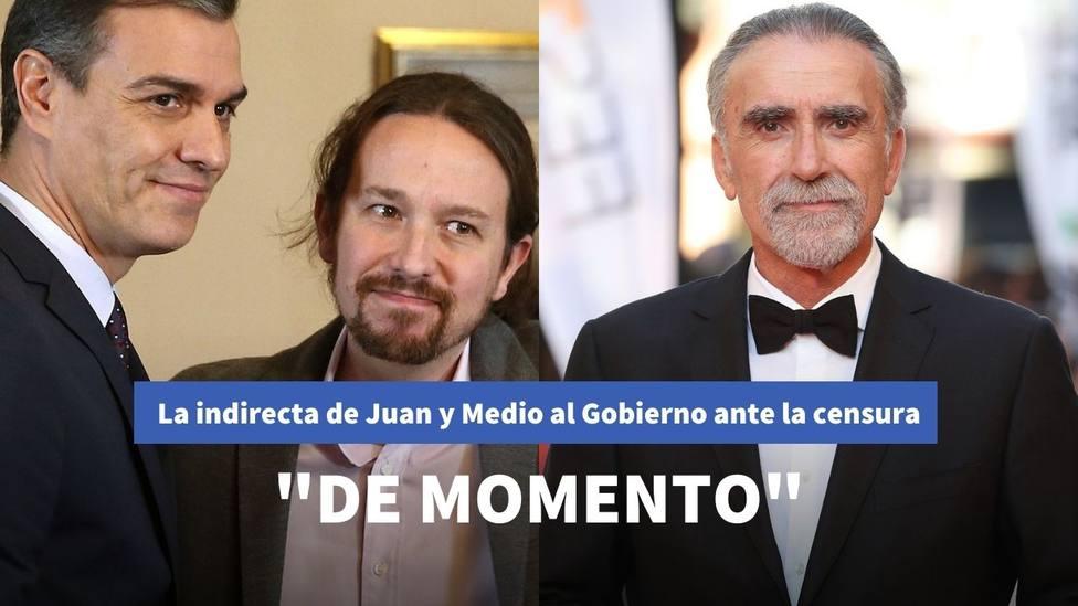 La indirecta de Juan y Medio a Sánchez e Iglesias por una posible censura del contenido de su programa