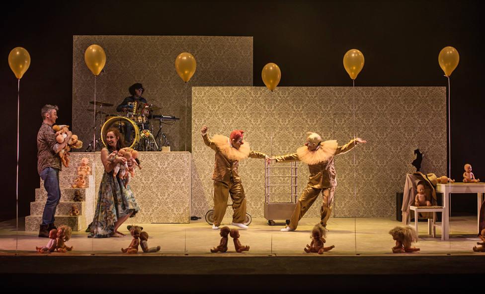 Un momento de la obra teatral Dreaming Juliet de la CIA Elefante Elegante