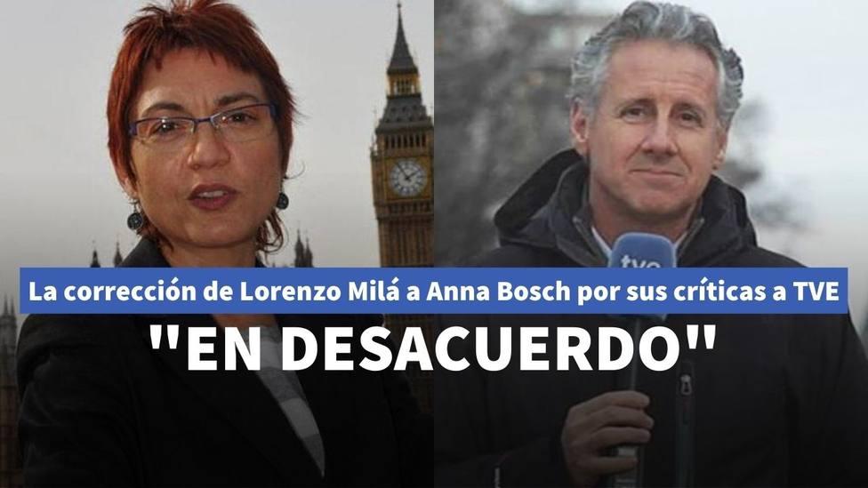El detalle de Anna Bosch sobre TVE que ha provocado las críticas de Lorenzo Milá: En desacuerdo