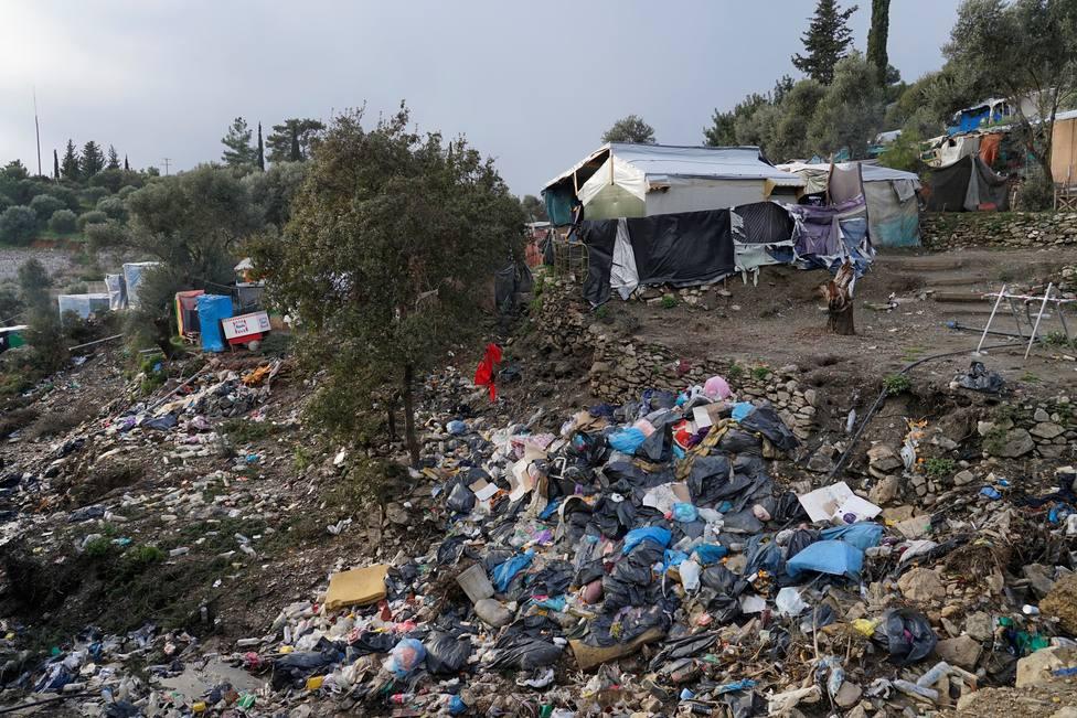 Campo de refugiados en Grecia