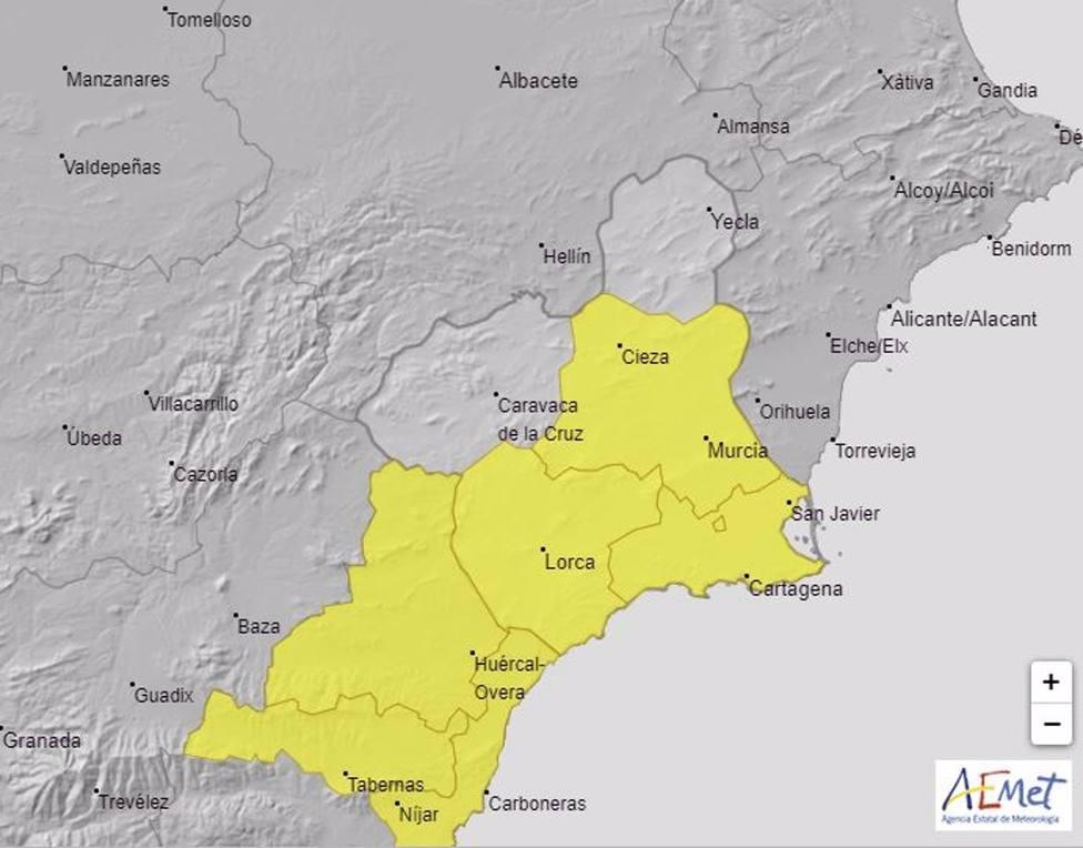 Meteorología activa el aviso amarillo por lluvias hasta 20 litros en una hora este lunes por la noche y este martes