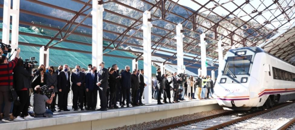 Inauguración estación de Canfranc