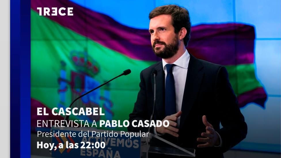 Entrevista a Pablo Casado, esta noche, en 'El Cascabel' de TRECE