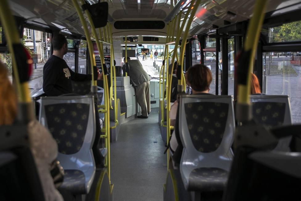 Interior de un bus urbano. FOTO: Xunta de Galicia
