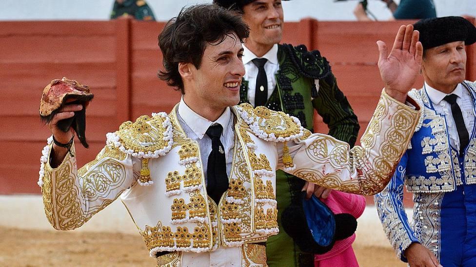 Antonio Grande ha cortado tres orejas este sábado en Herrera de Pisuerga (Palencia)