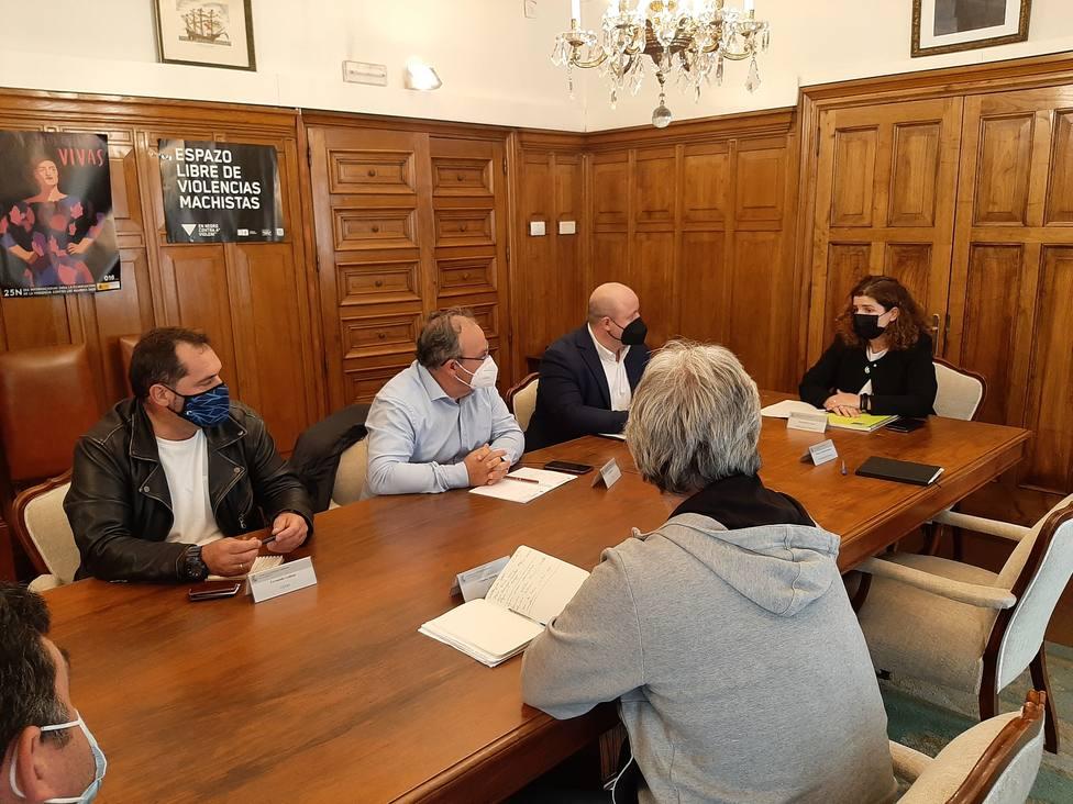 Reunión en la sede de la Subdelegación del Gobierno en A Coruña - FOTO: Subdelegación de A Coruña