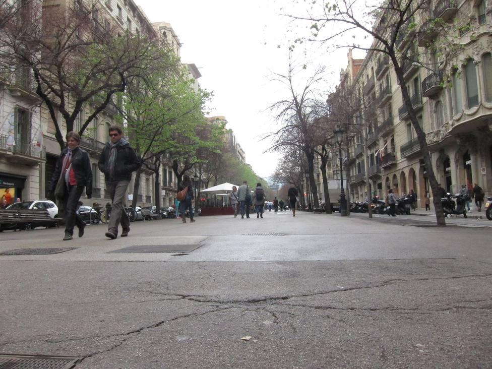 Barcelona espera el turismo para recuperar la afluencia a sus ejes comerciales