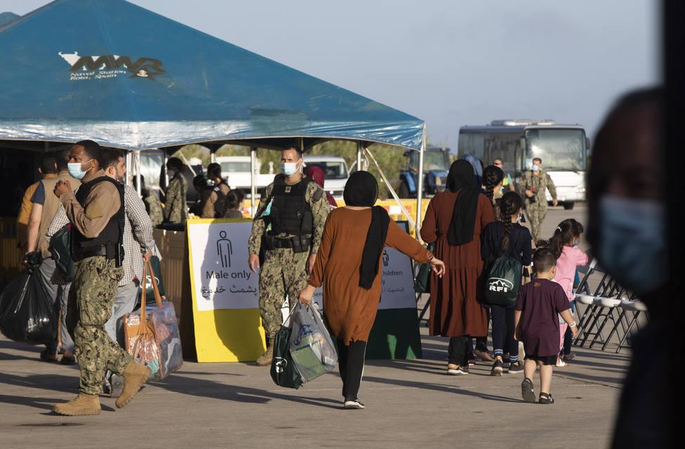 Rota alberga a 1.200 evacuados afganos a la espera de su traslado a EEUU en los próximos días