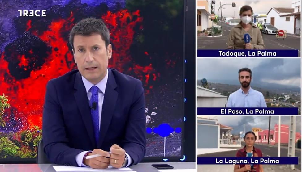 TRECE viaja a La Palma para narrar en directo la evolución de la erupción del volcán