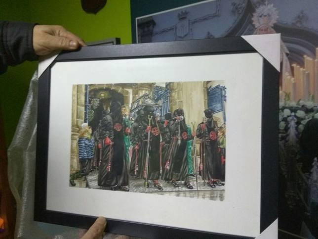 Una de las acuarelas que componen la exposición - FOTO: Junta de Cofradías