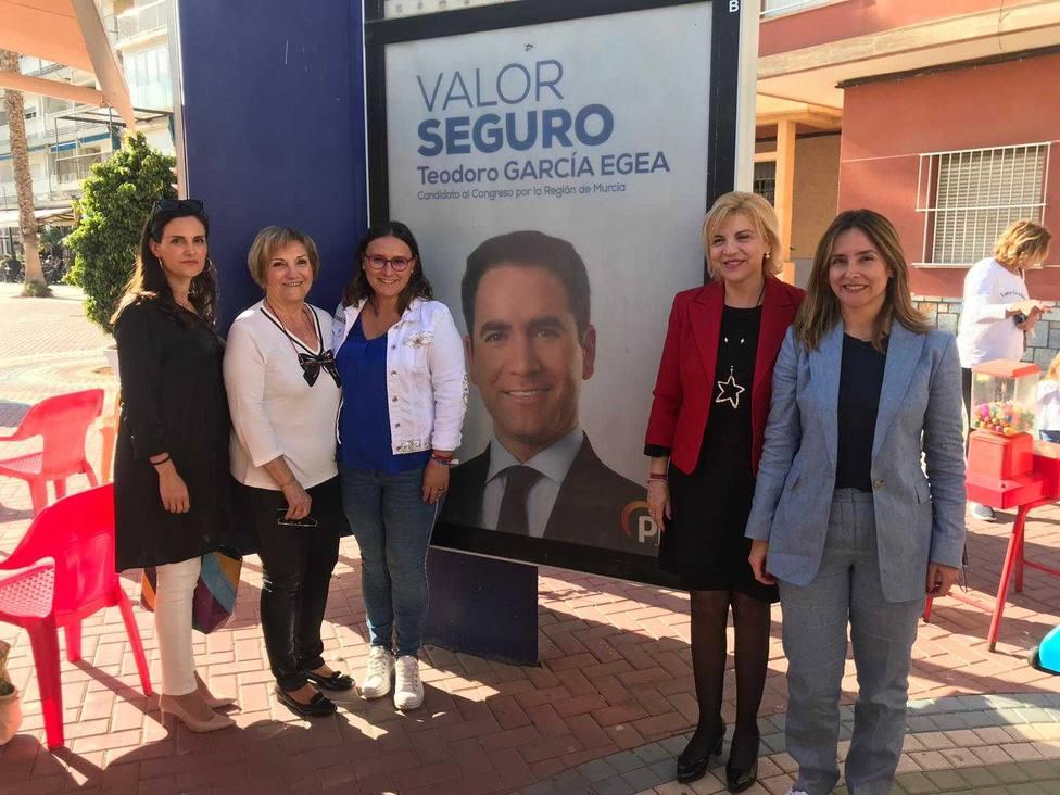 Emilia Bayona y Rosa María Soler nuevas caras del PP en Águilas