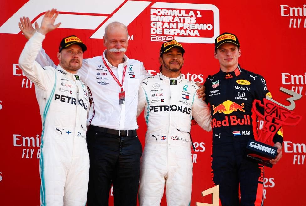 Podio Gran Premio de España