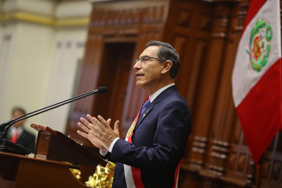 El presidente de Perú confía en que el Congreso aprobará el proyecto de ley para adelantar las elecciones