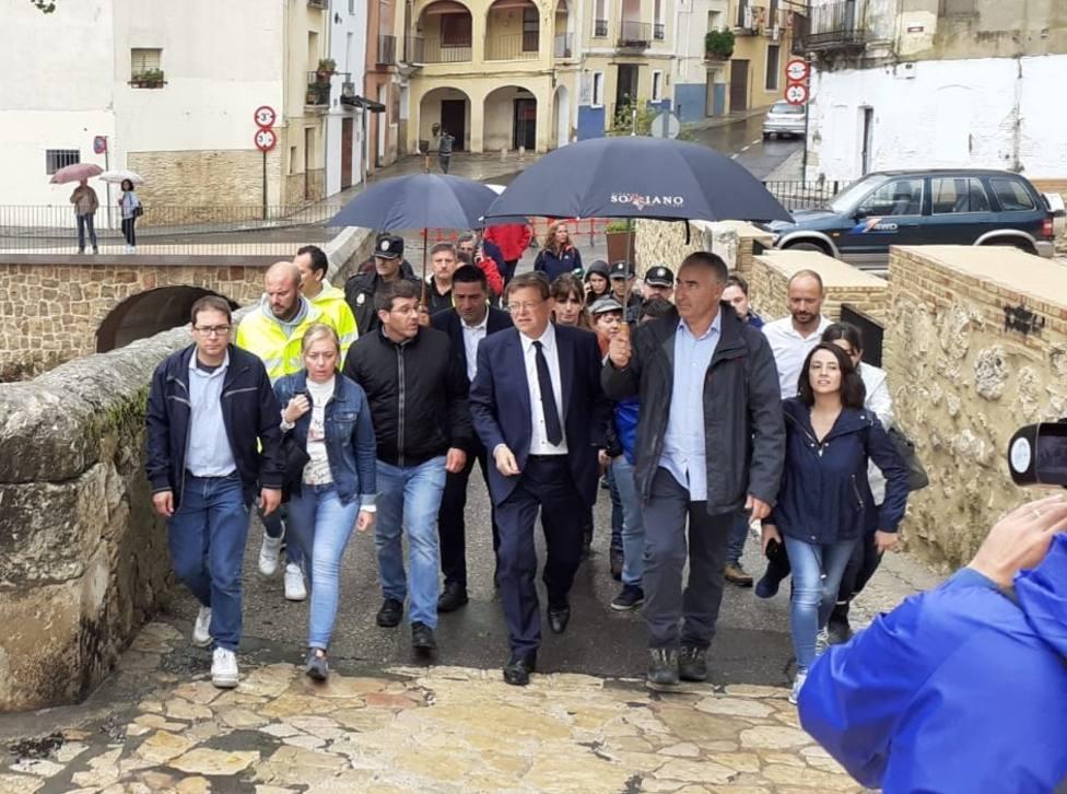 Puig anuncia que la Generalitat ayudará a que los vecinos desalojados de Ontinyent vuelvan a casa cuando termine la DANA