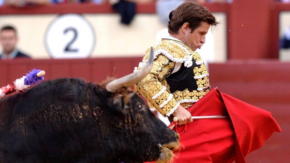 Molitene de El Juli durante su actuación este jueves en Valladolid