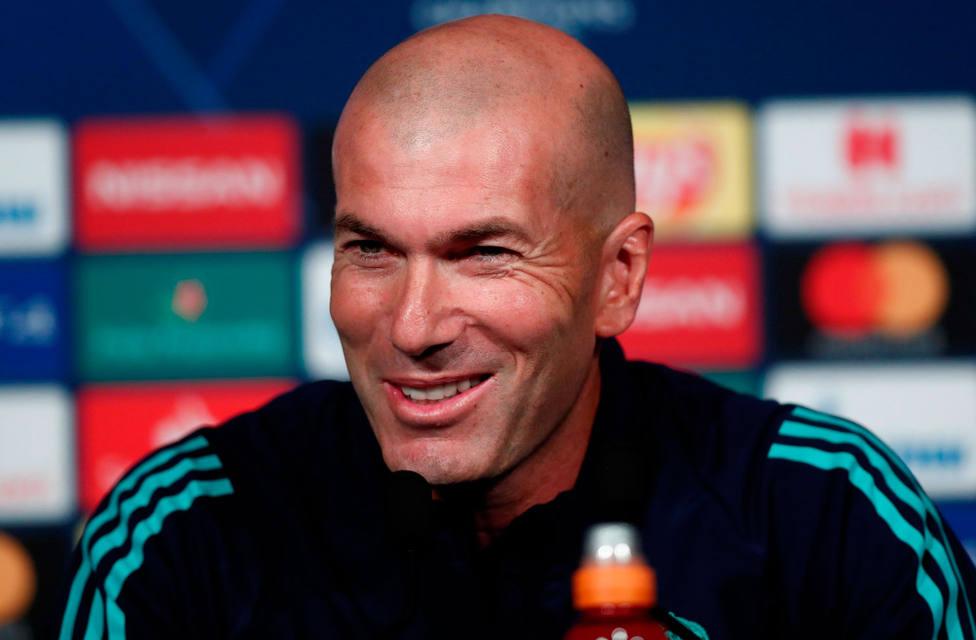 Zinedine Zidane, en rueda de prensa antes del partido contra el PSG (EFE)