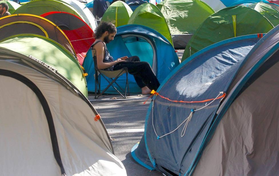 La Policía Municipal de Madrid frustra dos intentos de acampada del Movimiento Nadie Sin Hogar
