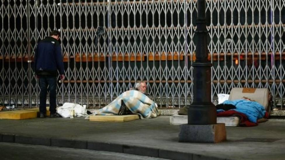 Personas sin techo en València