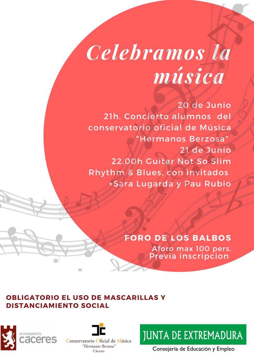 Vuelven los conciertos a la calle en Cáceres este sábado y domingo