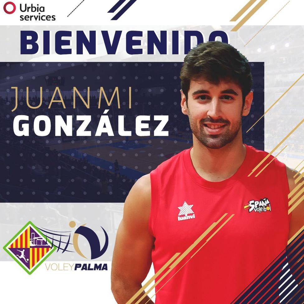 Cartel anunciando el fichaje de Juanmi González
