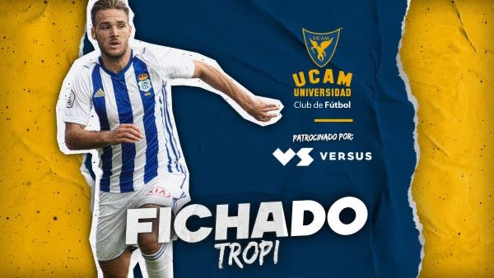 Tropi llega a UCAM CF tras su paso por el filial del Atlético de Madrid