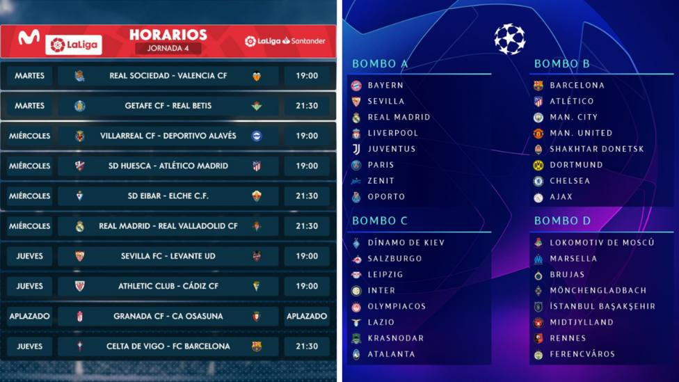 Sigue este jueves desde las 17.30h Tiempo de Juego con LaLiga Santander y el Sorteo de la Champions