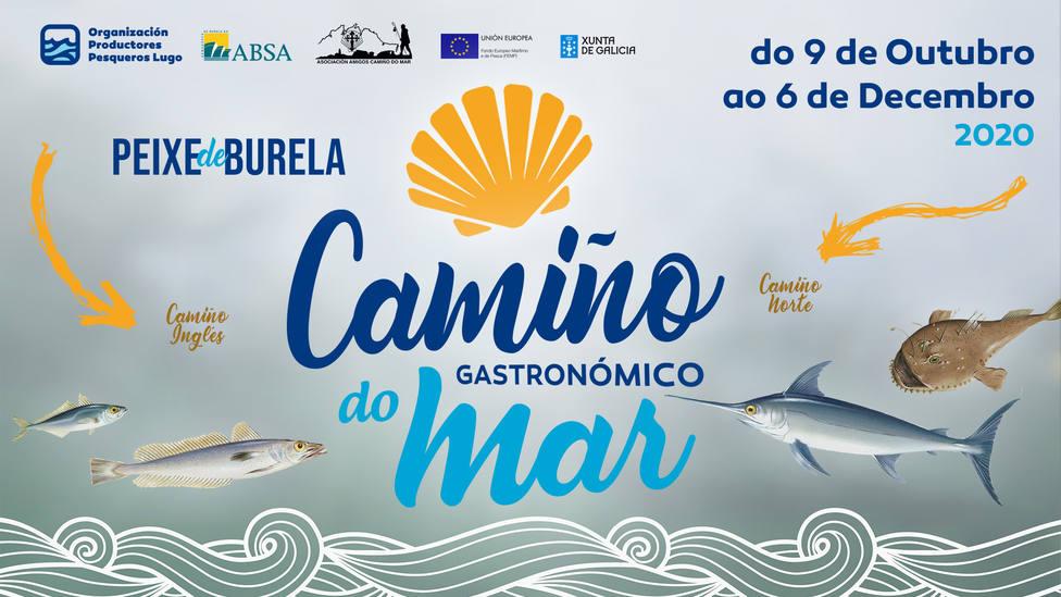 """Cartel promocional del """"Camiño Gastronómico do Mar"""""""