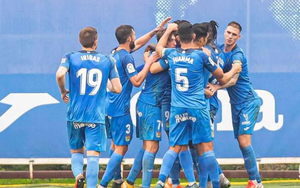 El Fuenlabrada celebra el gol del empate ante el Espanyol (@LaLiga)