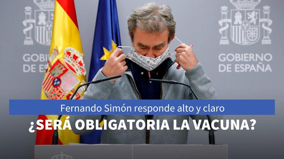 ¿Obligará el Gobierno a ponerse la vacuna del coronavirus? Fernando Simón responde alto y claro
