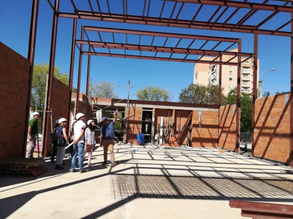 Obras en un colegio de Extremadura. Foto: Juntaex (Archivo)