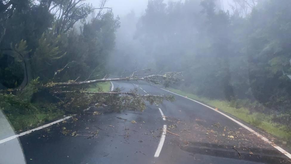 Filomena dejará hoy tormentas, granizo y viento huracanado en Canarias