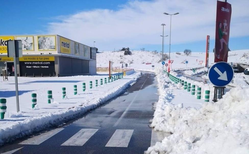Parque Comercíal Abadía en Toledo, tras la nieve