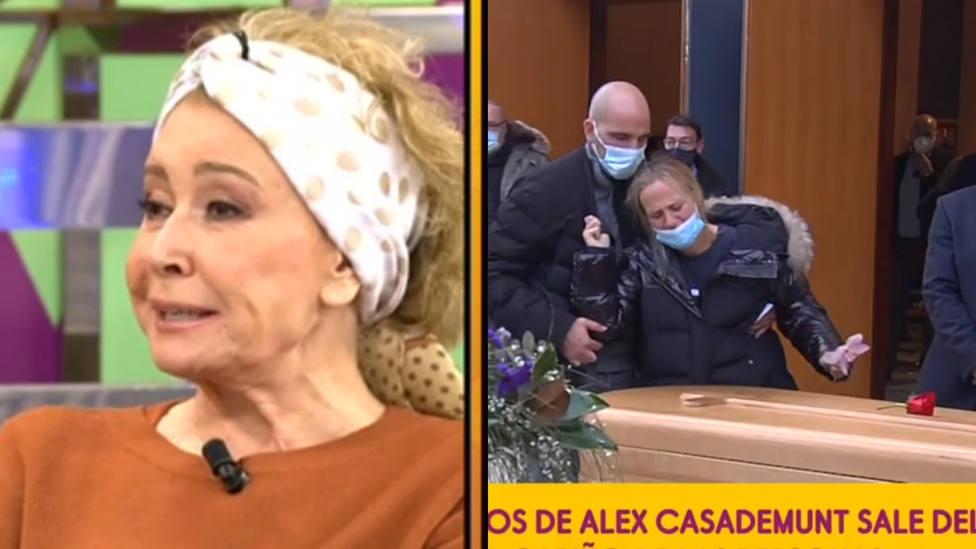 El desafortunado comentario de Mila Ximénez durante el funeral de Àlex Casademunt por el que le mandan callar