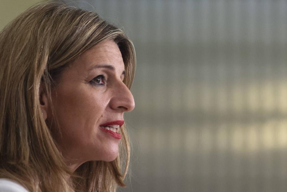 Yolanda Díaz asegura que el compromiso del Ejecutivo es mimar la coalición de Gobierno y agotar la legislatura