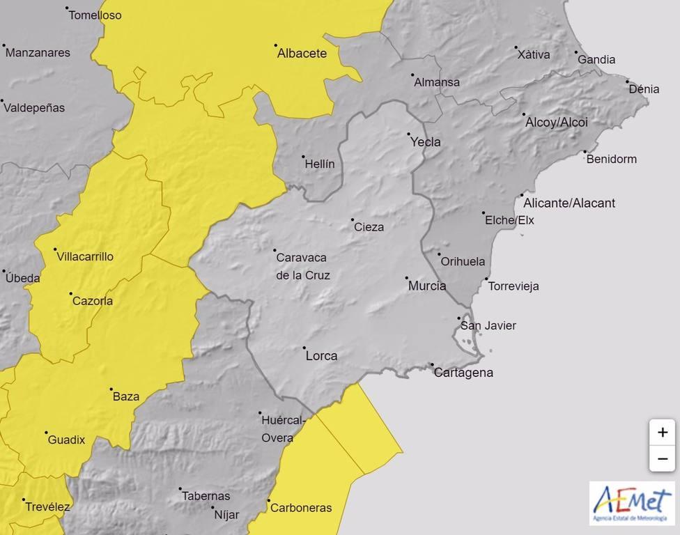 Meteorología activa este jueves el aviso amarillo por fenómenos costeros en el litoral de Lorca y �guilas