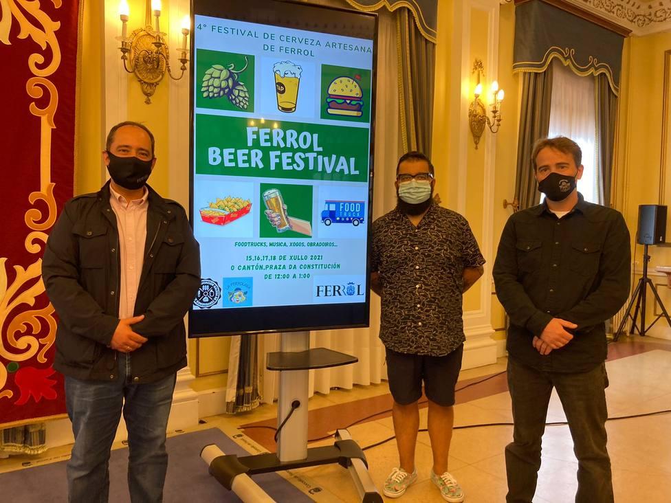 La presentación del Ferrol Beer Festival tuvo lugar en el concello. FOTO: concello de Ferrol