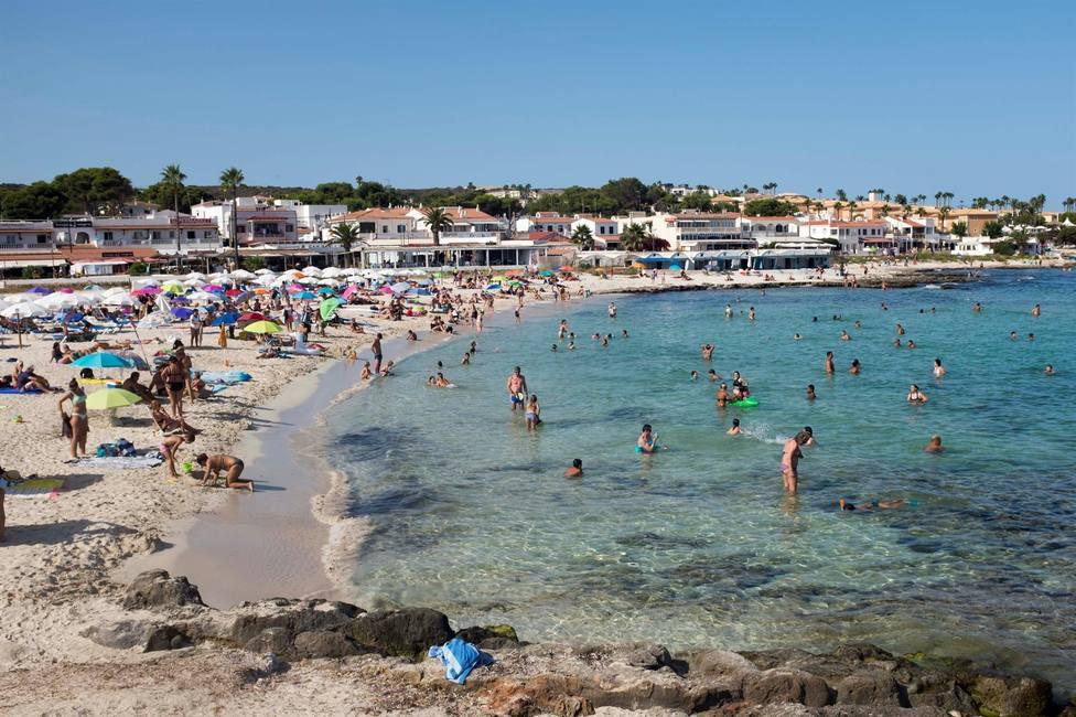 Playa de Punta Prima en Menorca