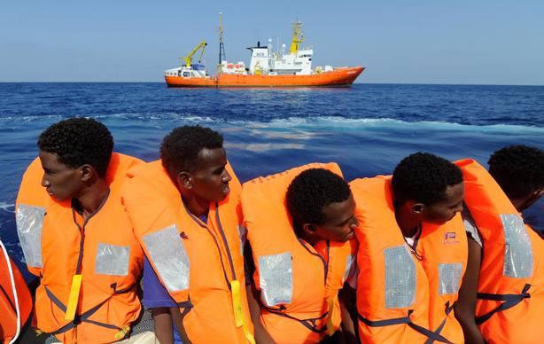Fotografía cedida por la ONG SOS Mediterránée