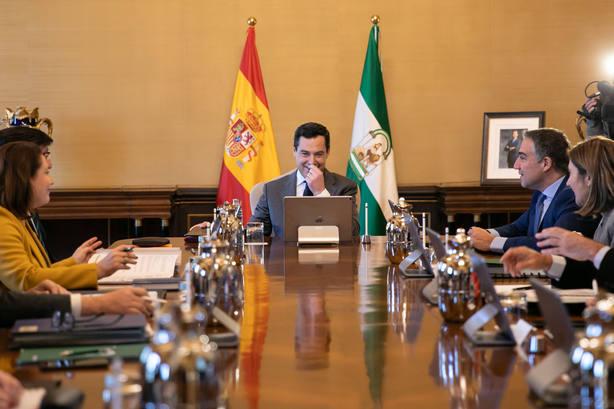 Moreno preside este jueves en San Telmo la toma de posesión de los ocho nuevos delegados del Gobierno andaluz