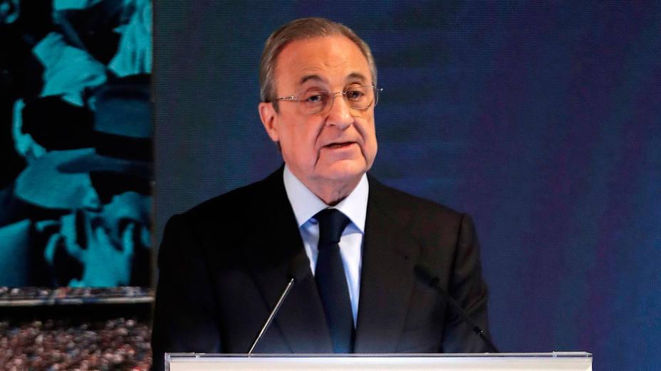 Florentino Pérez, presidente del Real Madrid. CORDONPRESS