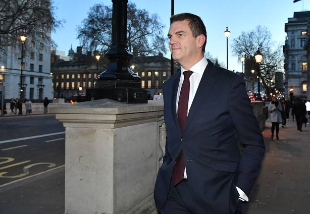 17 January 2019, England, London: Prime Ministers Europe Adviser Olly Robbins at Whitehall after UK Prime Minister Theresa May announced that she would invite party leaders in the Commons and other MPs in for discussions to get a Parliamentary conse