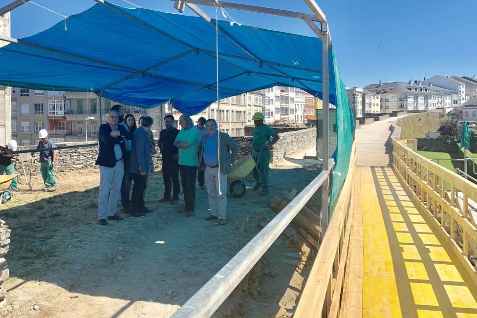 Cultura inicia las obras para consolidar la estructura del cubo VII de la Muralla